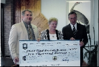 Attending a Cheque Presentation by SK Federation of Police Officers to Child Find Saskatchewan - Click on Image to enlarge