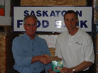 Don and Bob Pringle of the Saskatoon Food Bank - Click on Image to enlarge