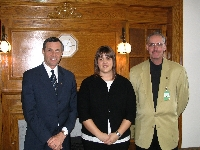 Minister Don Morgan and representatives of Students Against Drinking and Driving (SADD) - Click on Image to enlarge